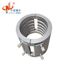 Cast aluminum heater for plastic extruder