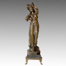 Statuette Classique Statue Femme Stean Bronze Sculpture TPE-003