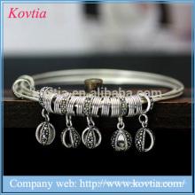 Bracelet en argent thaïlandais Bracelet en béton Bracelet en béton à trois couches Bracelet en argent 925 en argent sterling