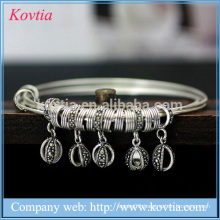 Thai Silver bracelet charm baby bangle three layer children bracelet 925 sterling silver jewellery