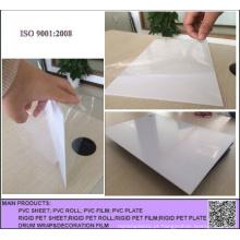 Folha de plástico PVC branco duro opaco ou rolo para impressão