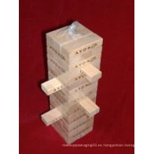 54PCS Jenga de madera