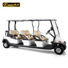 Elektrisches buggy Auto, chinesischer elektrischer Golfwagen mit 6 Sitzen Trojan-Batterie für Verkauf