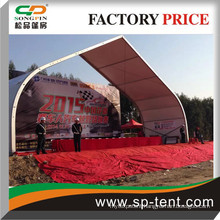 2015 Guangzhou Local Car Racing Ceremony Curved Tensioned Tents China Tent Supplier