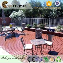 Madeira wpc grãos wpc decking ao ar livre, luz cinza tapete de piso de cor para jardim privado, bonito !!!!