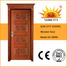 Portes en bois MDF intérieures de qualité supérieure en bois massif (SC-W088)