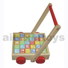 Wooden Alphabet Blocks on Wheels (80957)