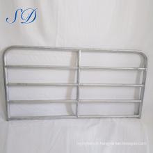 5 '5 panneaux galvanisés par porte de barrière de la barrière 5 de bétail de 5 barres