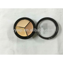 Wasserfeste Kosmetik 3 Farbe Concealer Palette Make-up