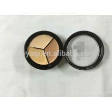 Maquillaje paleta de cosméticos impermeable 3 Color corrector