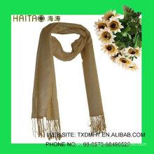women yellow silk scarf shawl in warm winter