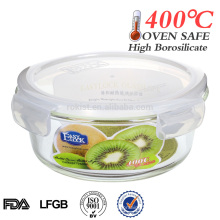 4 side lock airtight vacuum glass food canister
