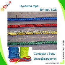 3-7mm colored polypropylene yellow and black rope