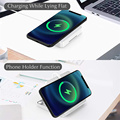 Portable Wireless Charger Phone Holder with Cable Storage