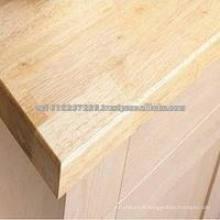 Panneau en bois en caoutchouc / plan de travail / comptoir / dessus de table