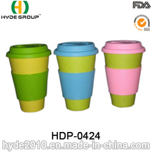 Neues Design biologisch abbaubare ökologische Bambusfaser Cup (HDP-0424)