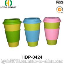 Taza de fibra de bambú ecológica biodegradable de nuevo diseño (HDP-0424)
