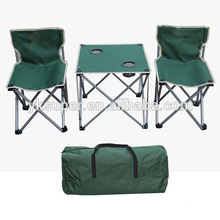 Folding table chair set for camping