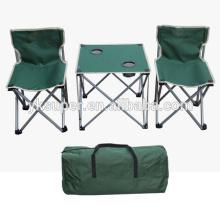 Conjunto de cadeira de mesa dobrável para camping
