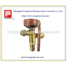 temperature controlled expansion valves for compressor