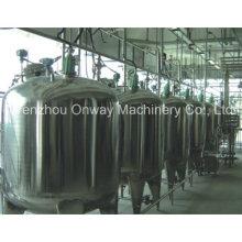 Pl Jacket Emulsificación Mezcla Tanque Mezclador de aceite Mezclador de azúcar Solución Acero inoxidable Mezcla de tanque Precio