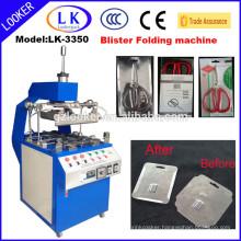 Hot selling plastic blister folder machine for clamshell