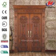 Talla puerta Hardware doble puertas interiores de madera