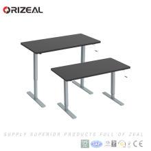 Cheap Hand Crank Mechanism Height Adjustable Office Furniture Desk