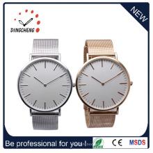 Relógio de aço inoxidável de estilo clássico, relógio de homem de moda de quartzo