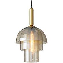 Nordic chandelier creative light bar cafe chandelier restaurant glass lampshade chandelier
