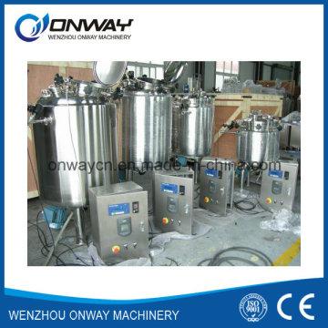 Pl Stainless Steel Jacket Emulsificación Mezcla Tanque Mezclador De Aceite Mezclador De Calentamiento De Vacío Tanque Emulsionante
