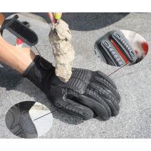 NMSAFETY 13 calibre luvas de trabalho mecânico anti-derrapante luvas de segurança anti-impacto