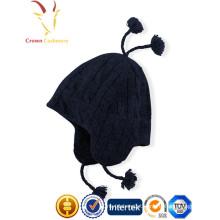 Lã feita sob encomenda malha inverno bebê menino chapéus
