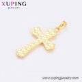 33735 xuping jewelry 24k gold plated simple design cross religious pendant