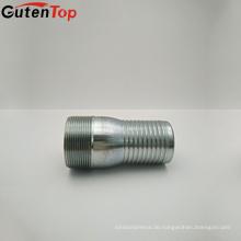 GutenTop NPT Standard König Kombination Rohr Nippel Stahl vernickelt, KC Nippel
