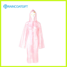 Cheap PE Emergency Women′s Raincoat Full Length Raincoat Rpe-079