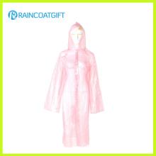 Cheap PE Emergency Women′s Raincoat Full Length Raincoat Rpe-079