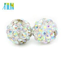 IB00116 - Abalorios baratos de bolas de discoteca Pamb Shamballa de Crystal AB a granel baratos para pulsera y collar tamaño 4 mm-18 mm