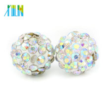 IB00116 - Crystal AB Cheap Bulk Wholesale Colorful Pave Shamballa Disco Ball Beads for Bracelet & Necklace Size 4mm-18mm
