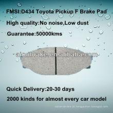 Toyota PICK-UP disco de travão pad D434
