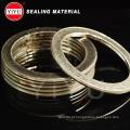 Gasktet flexível da ferida da espiral do grafito com anel interno e exterior