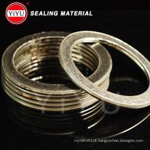 Grafite e material de aço inoxidável espiral Woun junta com matéria-prima: 304/316 / 316L / soft ferro