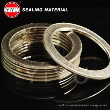 Grafito y material de acero inoxidable Spiral Woun Junta con materia prima: 304/316 / 316L / Soft Iron