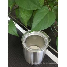Verre de Rambler de double mur / tasse automatique d'acier inoxydable / refroidisseur isolé