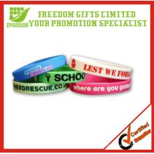 Venta caliente regalos promocionales personalizado logo impreso Rubber Wristband