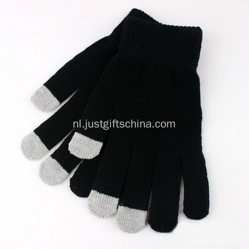 Custom scherm Touch Gloves W / Logo - Black