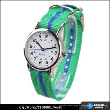 Vogue couleur bracelet en nylon montre japan movt