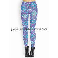 Leggings geométricos abstractos con cintura elástica