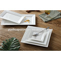 Günstige konkurrenzfähige weiße Porzellan-Quadrat und rechteckige Platte gesetzt