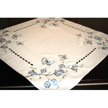 Polyester Table Cover Handmade Cutwork Fh239